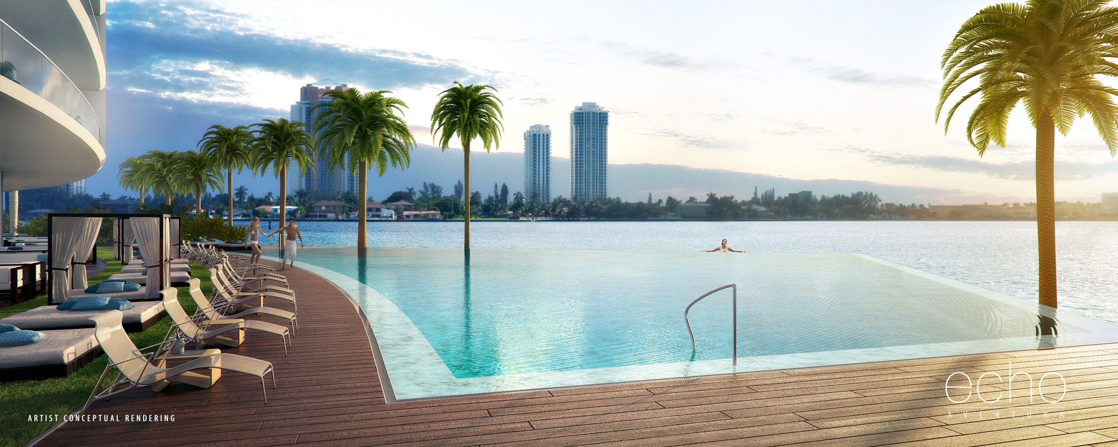 Echo aventura miami partners realty for Pool design ventura